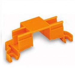 Caja 10 uds. adaptadores de fijación a carril 4 bornas